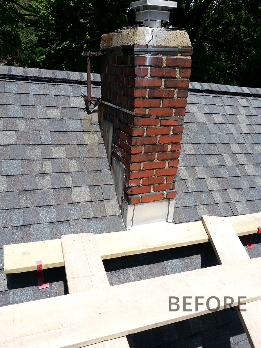 Before-Chimney Repair