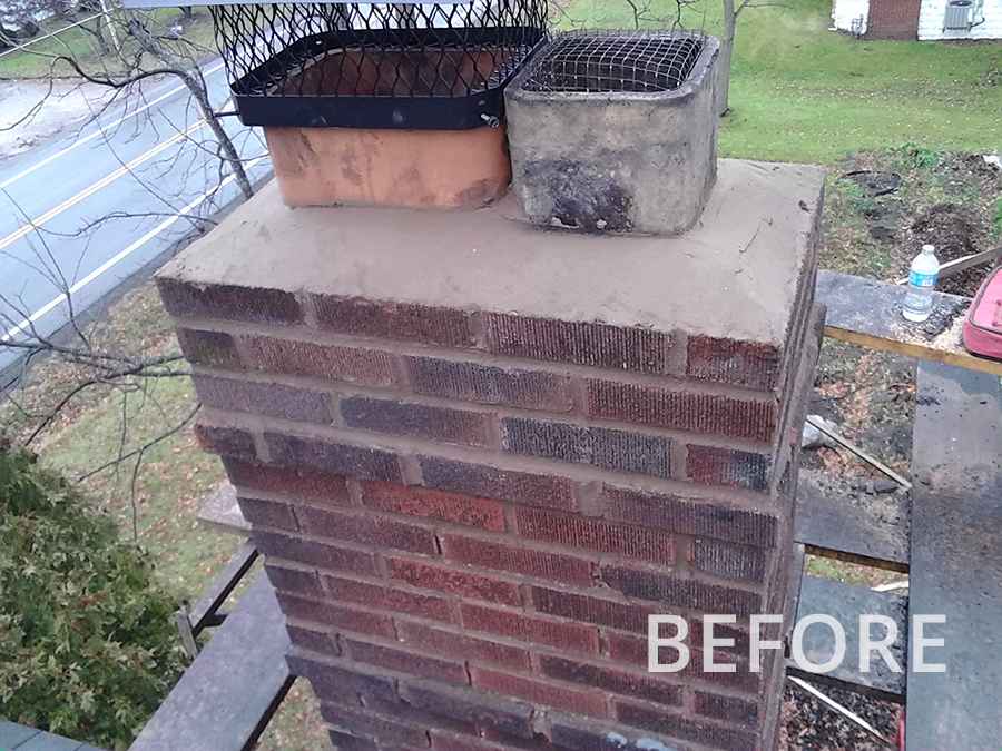 Before-More Chimney Repair